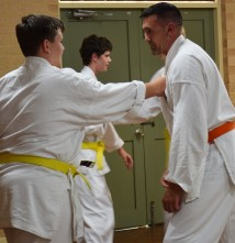 Sam and Fred at Kwinana dojo